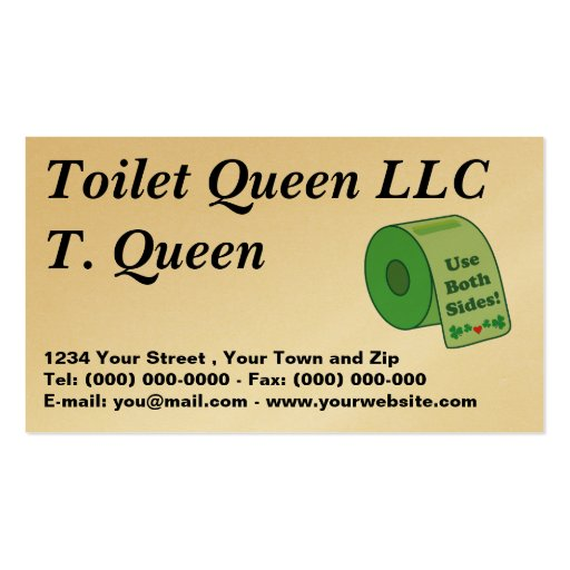 Toilet Paper business Profile Card Business Card