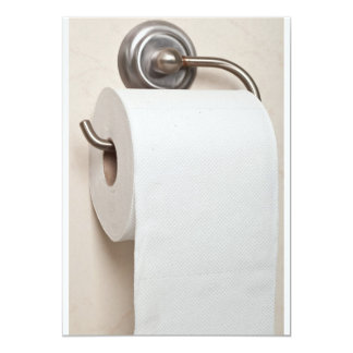 Toilet paper card