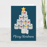 Toilet Paper Christmas Tree Funny 2020 Holiday Card
