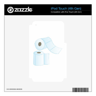 Toilet Paper Decals For iPod Touch 4G