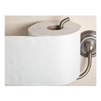 Toilet paper full color flyer