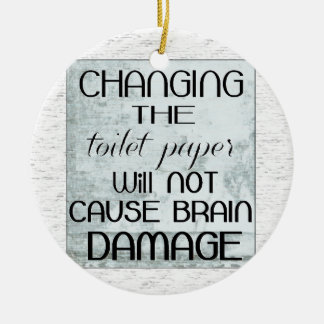 toilet paper humor christmas tree ornament