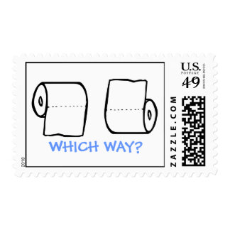 TOILET PAPER HUMOR WHICH WAY? POSTAGE