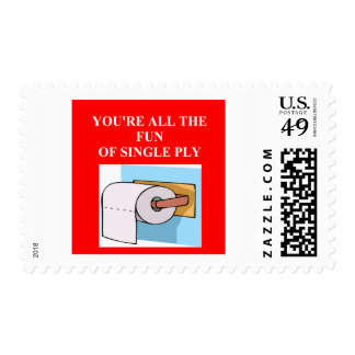 toilet paper insult postage stamps