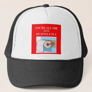 toilet paper insult trucker hat