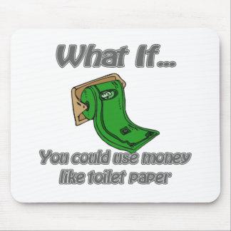 Toilet Paper Money Mouse Pad