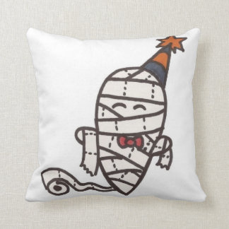 Toilet Paper Mummy Party Ghost Throw Pillow