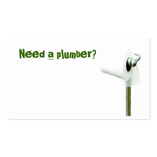 toilet paper, Need a plumber? Business Card Templates