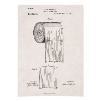 Toilet Paper Patent No. 465,588 by S. Wheeler 1891 Card