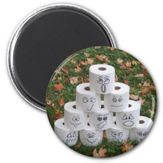 Toilet Paper Pyramid 2 Inch Round Magnet