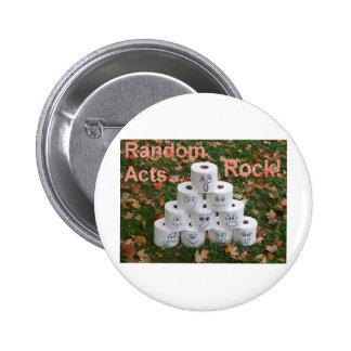 Toilet Paper Pyramid Pinback Button