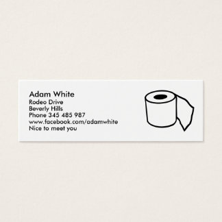 Toilet paper roll mini business card