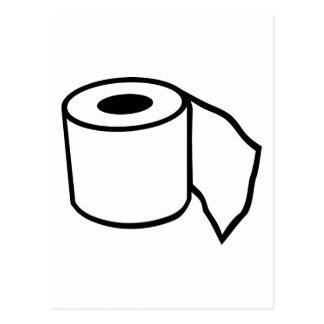 Toilet paper roll postcard