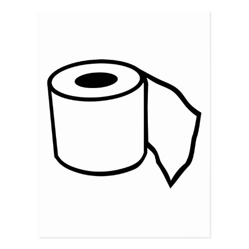 Toilet paper roll postcard