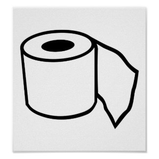 Toilet paper roll posters