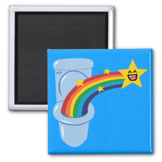 Toilet Rainbow 2 Inch Square Magnet