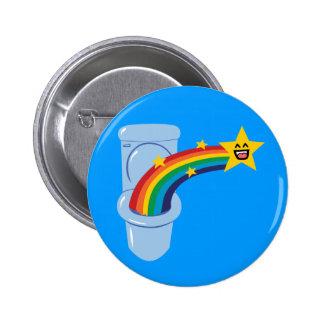 Toilet Rainbow Pinback Button