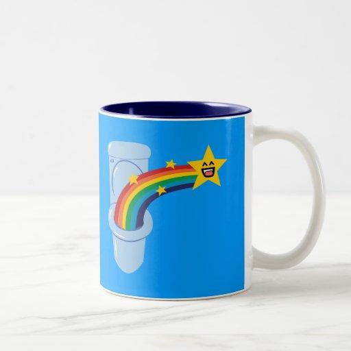 Toilet Rainbow Coffee Mug