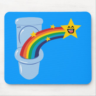 Toilet Rainbow Mouse Pad