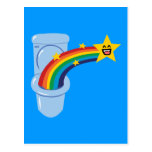 Toilet Rainbow Postcard