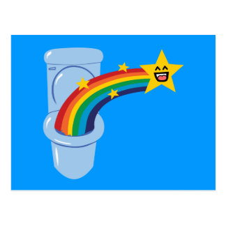 Toilet Rainbow Post Card