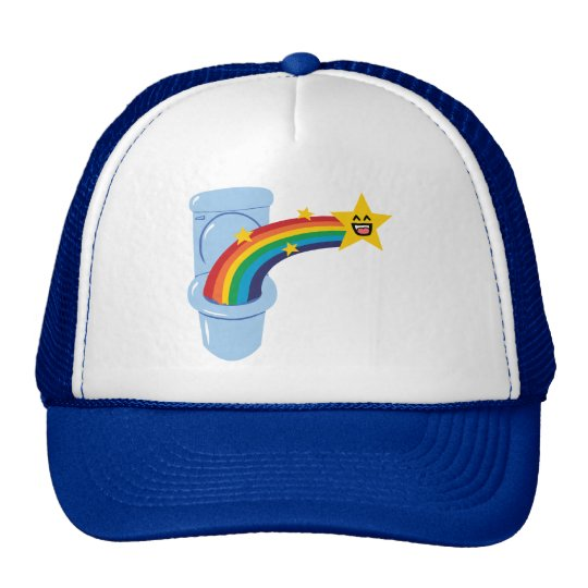 Toilet Rainbow Trucker Hat