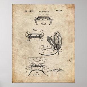 Toilet Seat Patent Poster