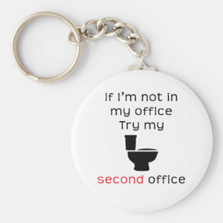 Toilet second office funny tee keychains