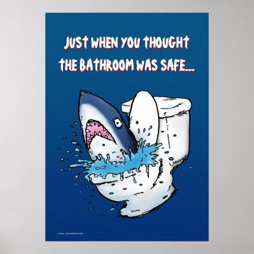 Toilet Shark Funny Poster Zazzle