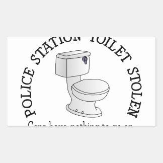 Toilet Stolen Rectangular Sticker