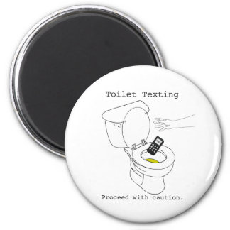Toilet Texting 2 Inch Round Magnet
