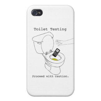 Toilet Texting iPhone 4/4S Cases