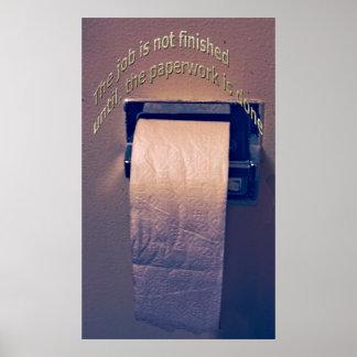 Toilet tissue, poster