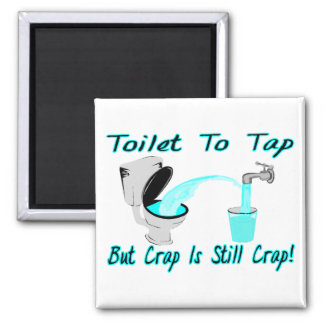 Toilet To Tap 2 Inch Square Magnet