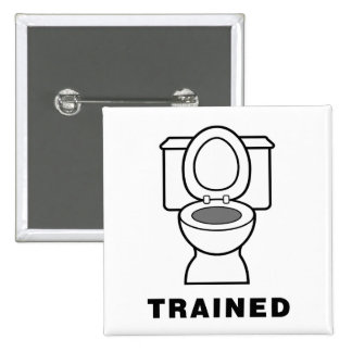 Toilet Trained 2 Inch Square Button