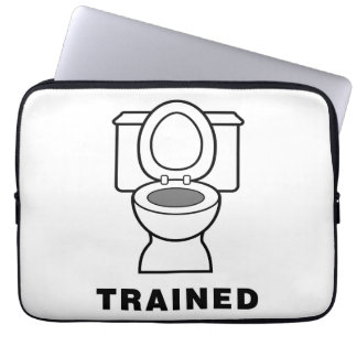 Toilet Trained Laptop Computer Sleeve