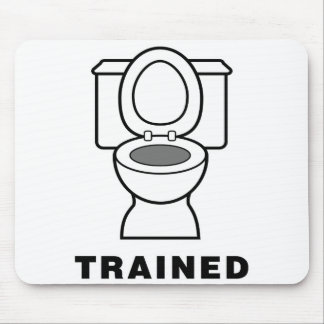 Toilet Trained Mouse Pad