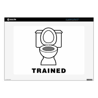 "Toilet Trained 15"" Laptop Decals"