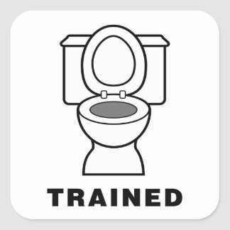 Toilet Trained Square Sticker