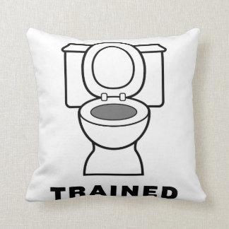 Toilet Trained Throw Pillow