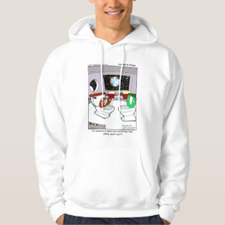 Toilet UFO Funny Hoodie by Rick London