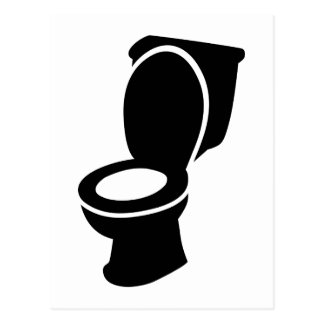 Toilet WC Postcard