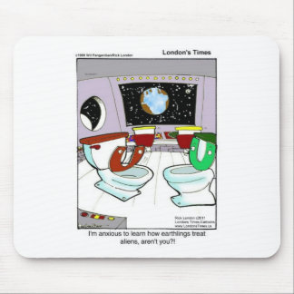 Toilets From Outer Space Funny Tees Mugs Cards Etc Mouse Pad