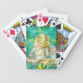 TOILING FOR HOURS IN HER FOREST OF FLOWERS.jpg Bicycle Playing Cards