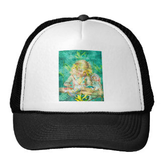 TOILING FOR HOURS IN HER FOREST OF FLOWERS.jpg Trucker Hat