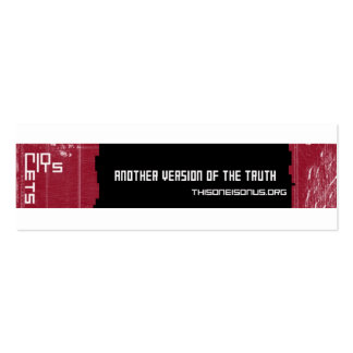 TOIOU double-sided cards Double-Sided Mini Business Cards (Pack Of 20)