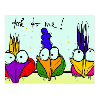 'tok to me !' postcard