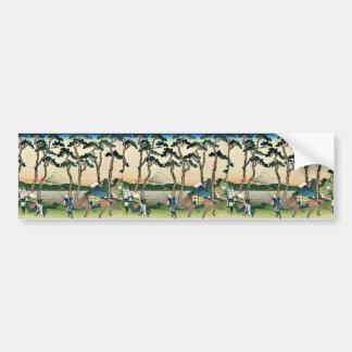 Tokaido hodogaya by Katsushika, Hokusai Ukiyoe Bumper Stickers