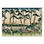 Tokaido hodogaya by Katsushika, Hokusai Ukiyoe Card