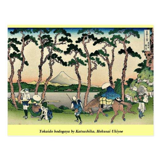 Tokaido hodogaya by Katsushika, Hokusai Ukiyoe Postcards